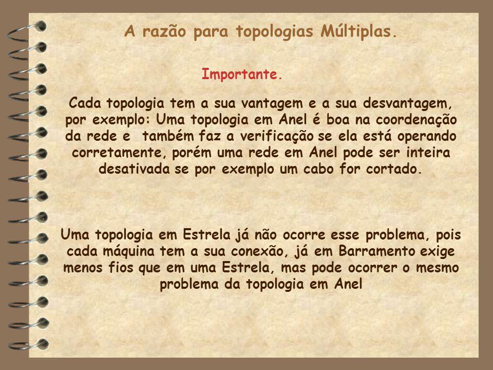 A razão para topologias Múltiplas.