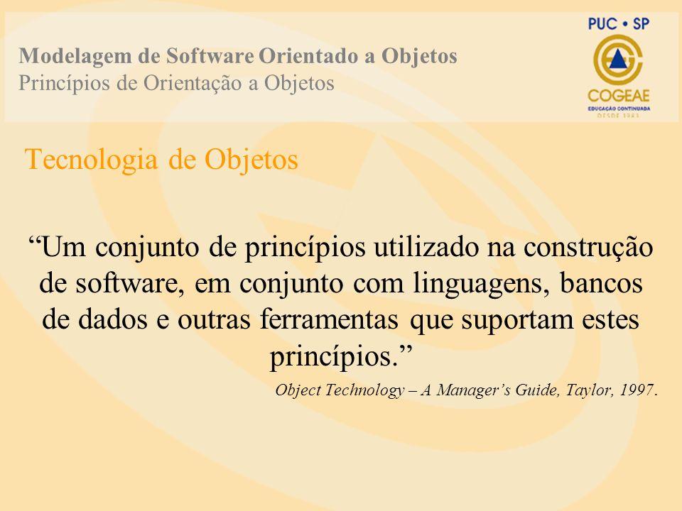Modelagem de Software Orientado a Objetos Princípios de Orientação a Objetos