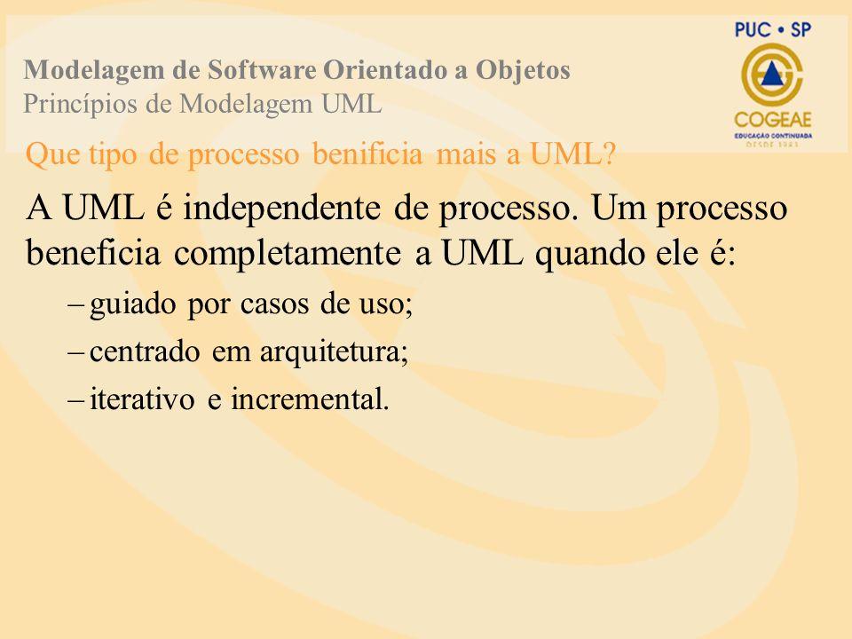 Que tipo de processo benificia mais a UML