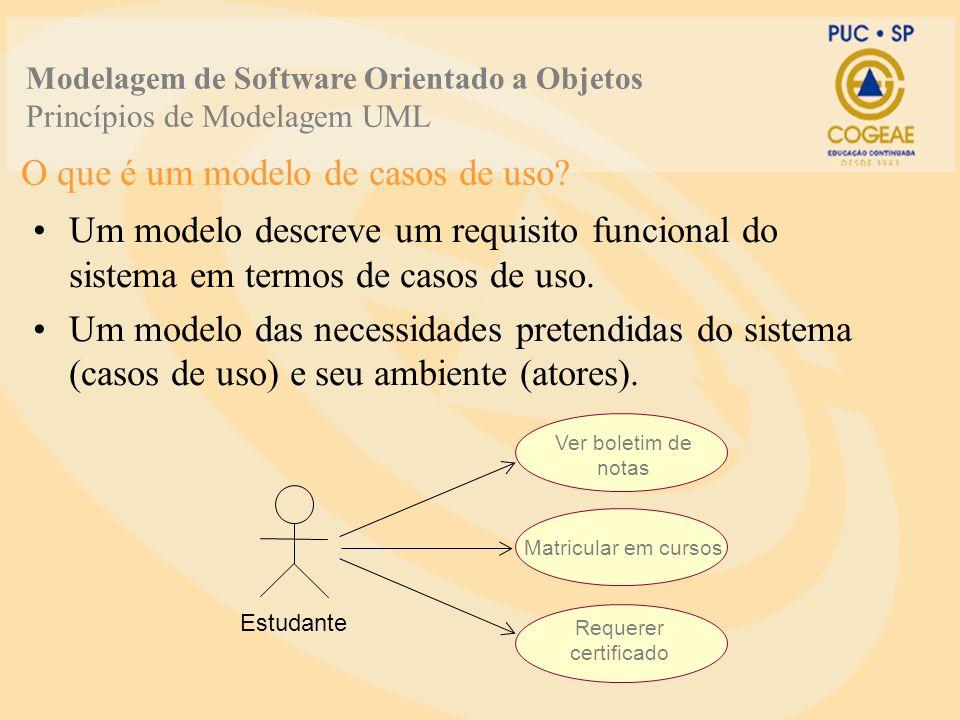 O que é um modelo de casos de uso