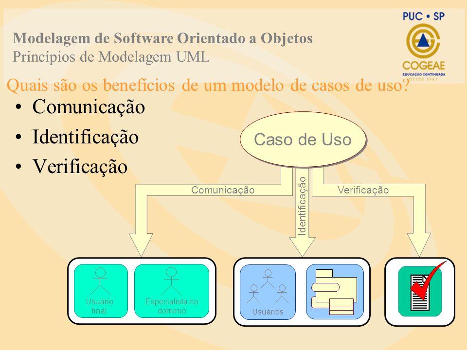 Quais são os benefícios de um modelo de casos de uso