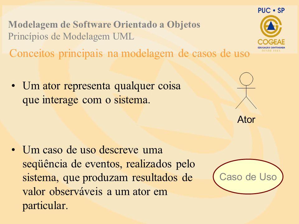 Conceitos principais na modelagem de casos de uso