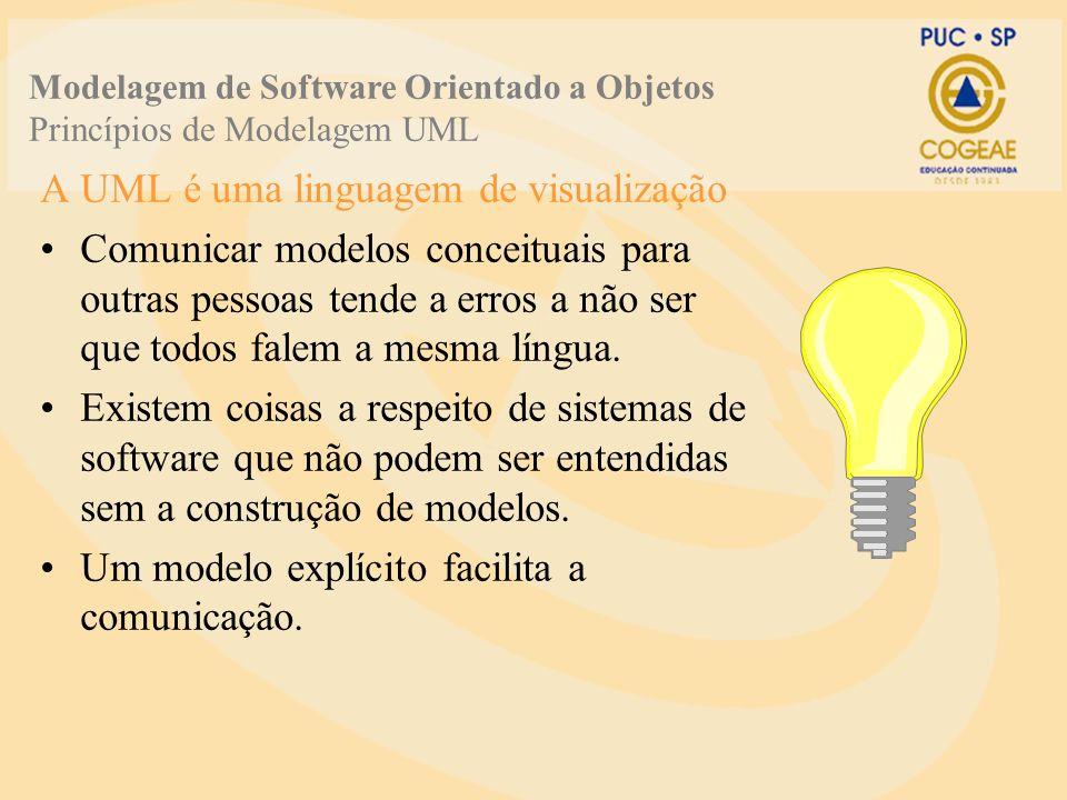 A UML é uma linguagem de visualização