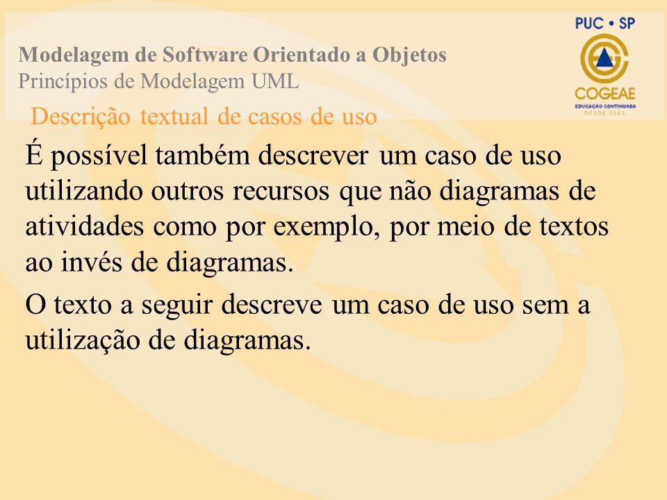 Descrição textual de casos de uso