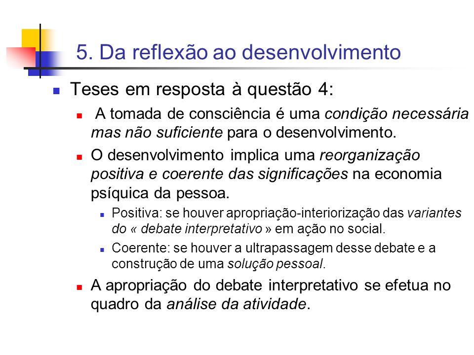 5. Da reflexão ao desenvolvimento