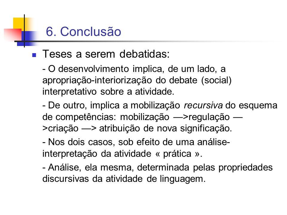 6. Conclusão Teses a serem debatidas:
