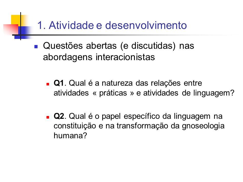 1. Atividade e desenvolvimento