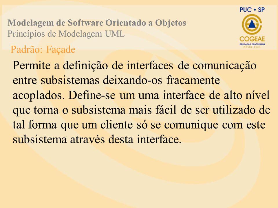 Modelagem de Software Orientado a Objetos Princípios de Modelagem UML