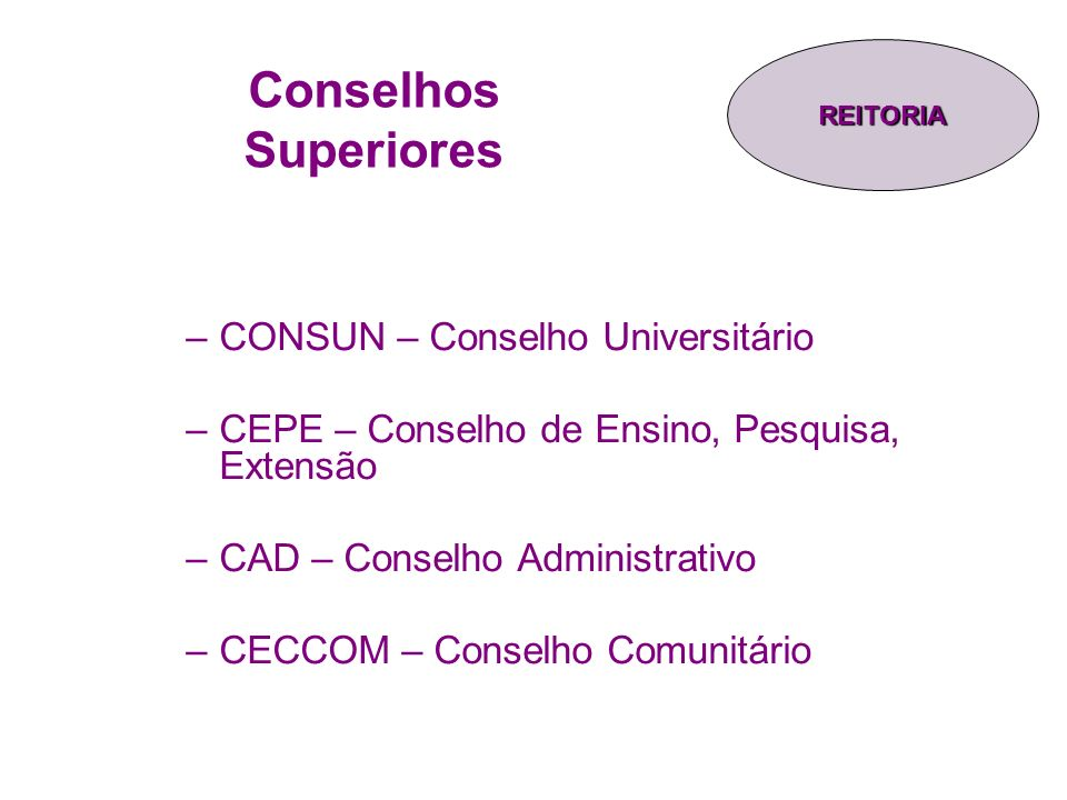 Conselhos Superiores CONSUN – Conselho Universitário