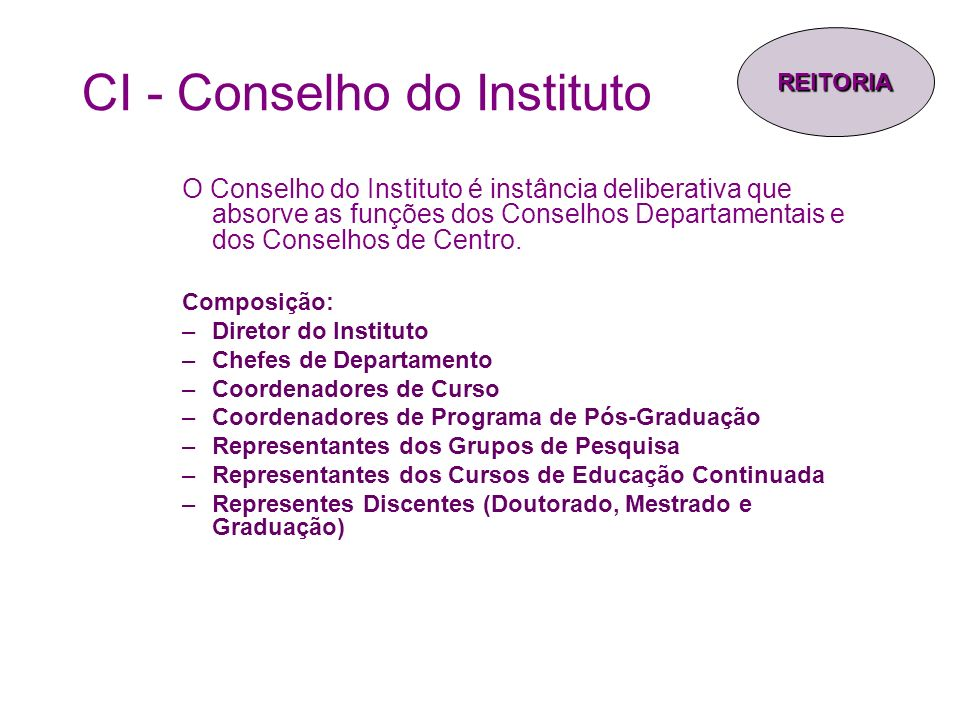 CI - Conselho do Instituto