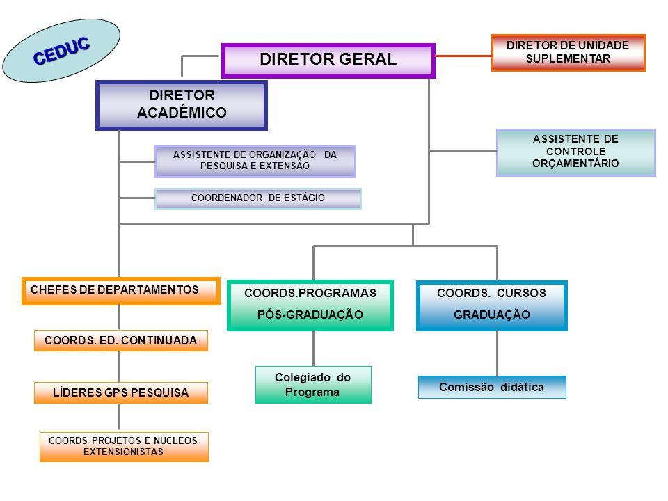 CEDUC DIRETOR GERAL DIRETOR ACADÊMICO COORDS.PROGRAMAS PÓS-GRADUAÇÃO