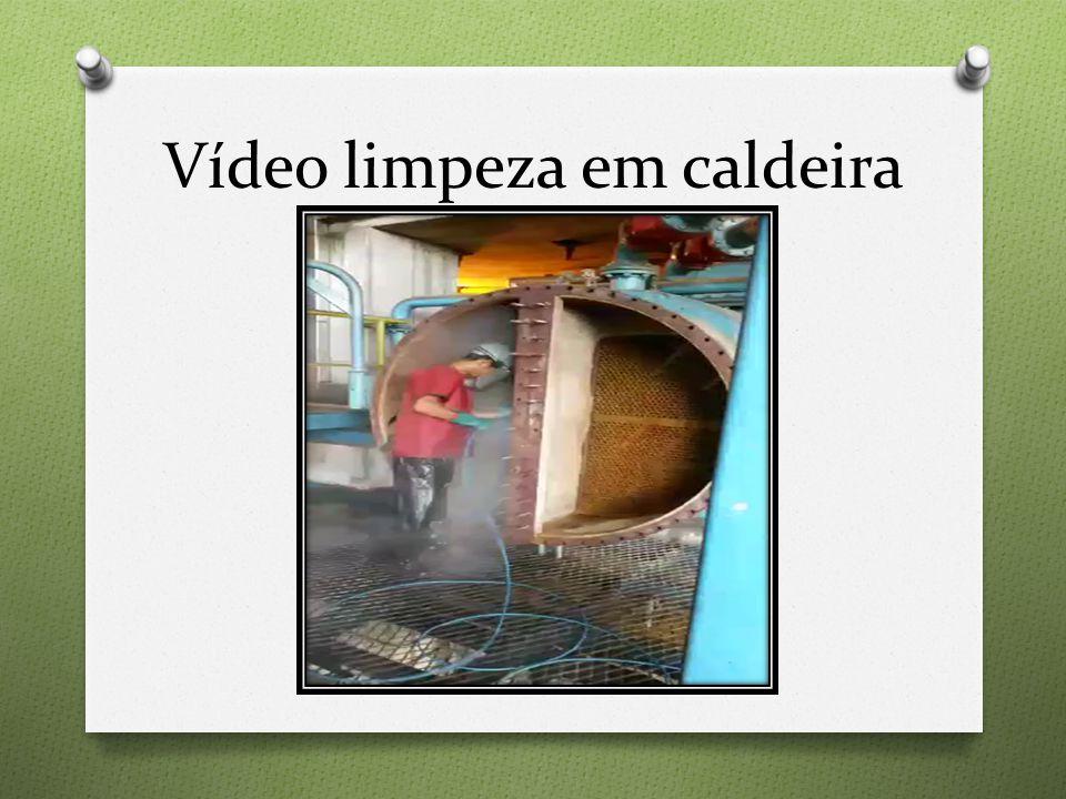 Vídeo limpeza em caldeira