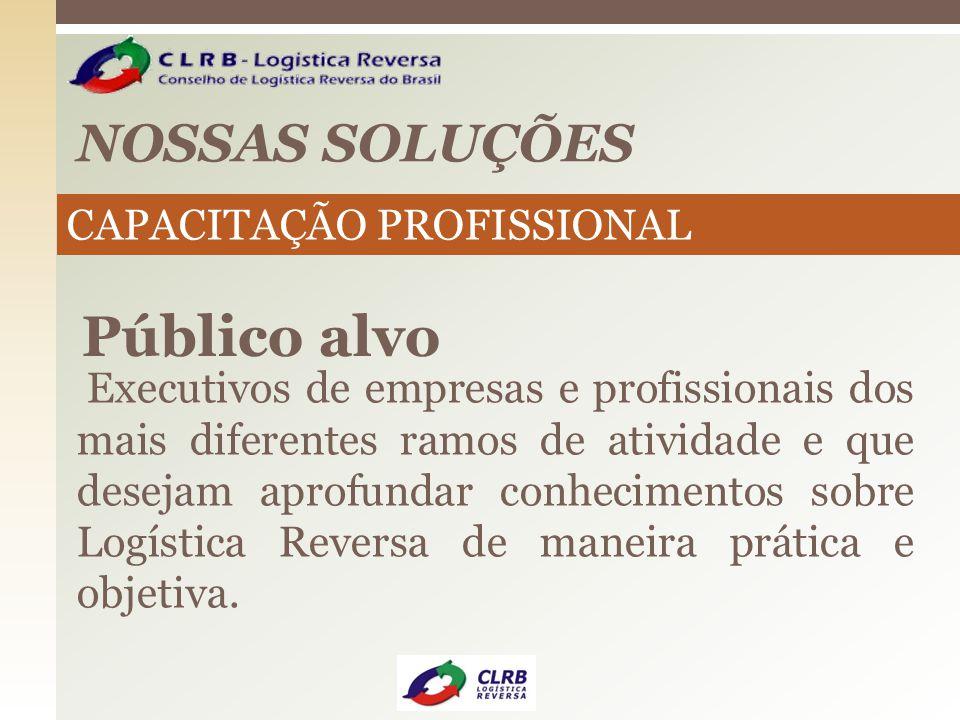 Público alvo NOSSAS SOLUÇÕES CAPACITAÇÃO PROFISSIONAL