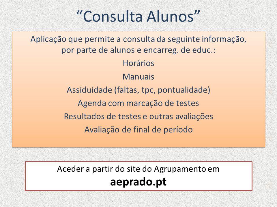 Consulta Alunos aeprado.pt