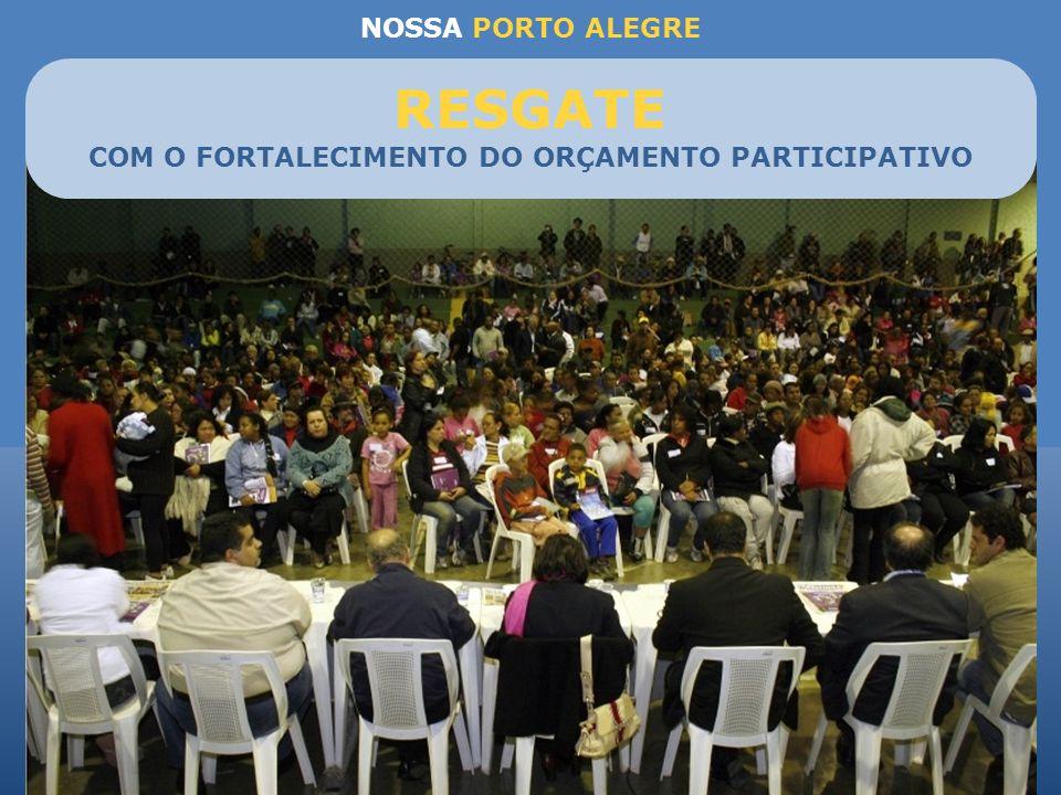COM O FORTALECIMENTO DO ORÇAMENTO PARTICIPATIVO