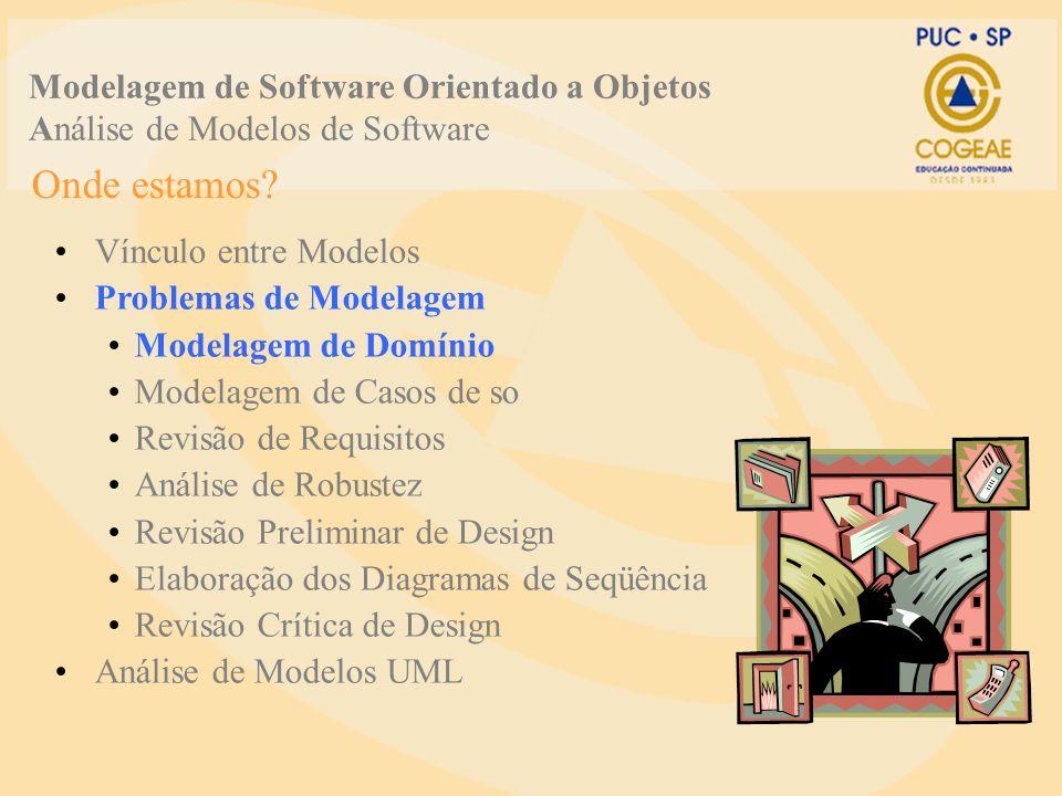 Modelagem de Software Orientado a Objetos Análise de Modelos de Software