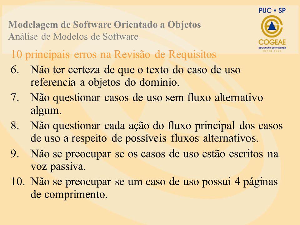 10 principais erros na Revisão de Requisitos