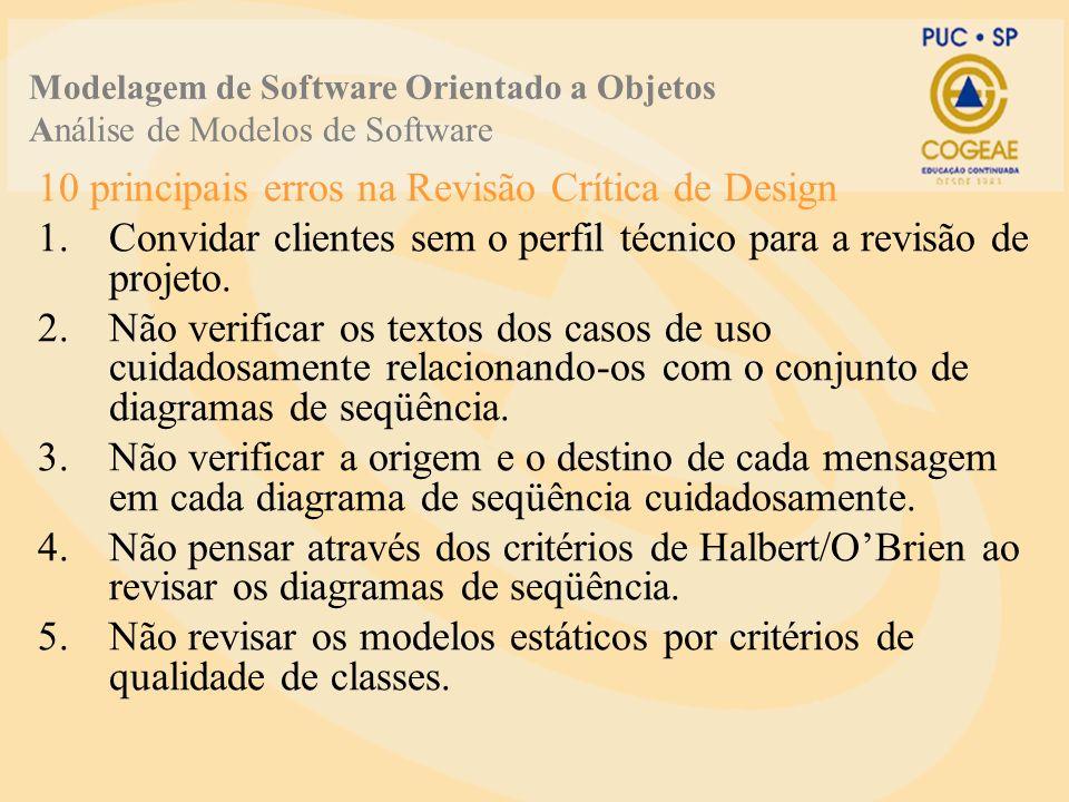 10 principais erros na Revisão Crítica de Design