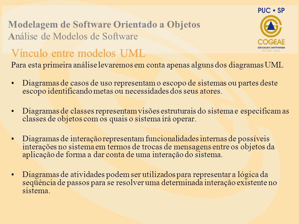 Vínculo entre modelos UML