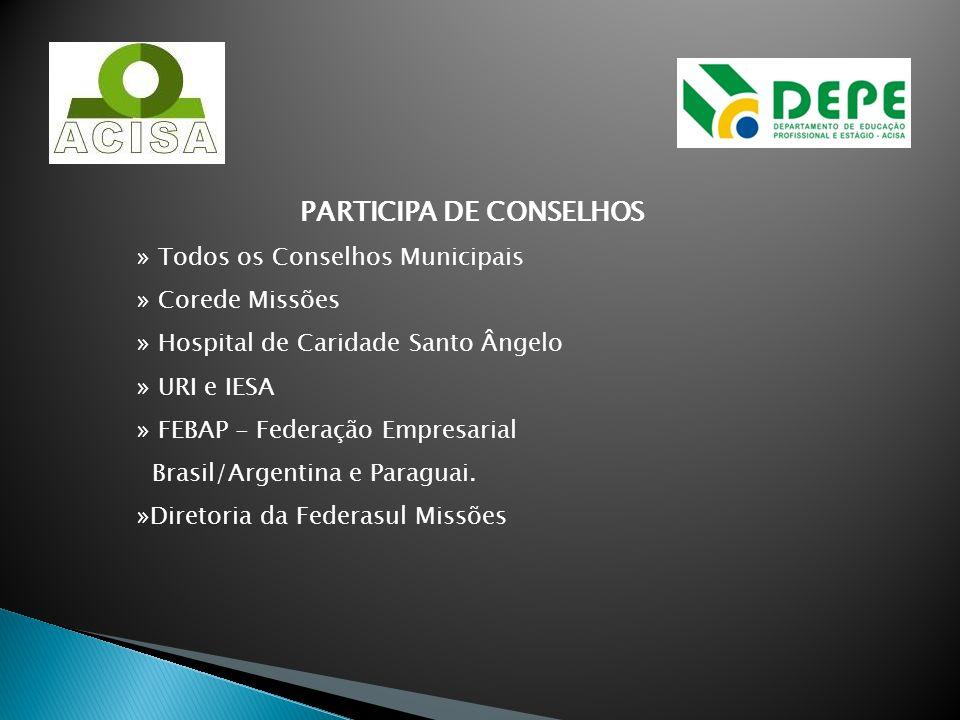 PARTICIPA DE CONSELHOS