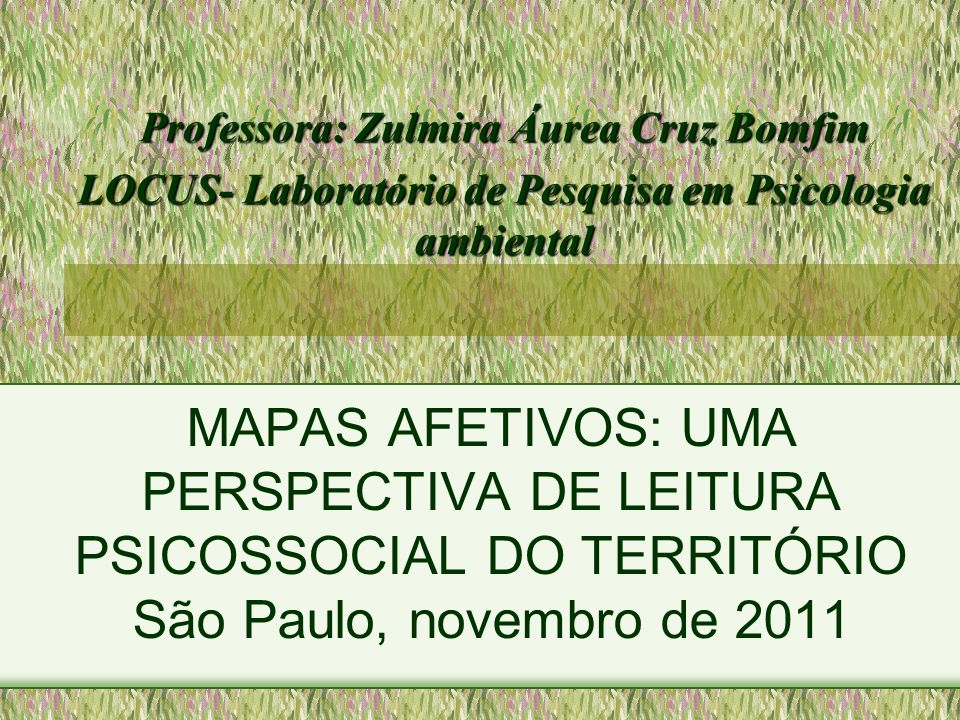 Professora: Zulmira Áurea Cruz Bomfim