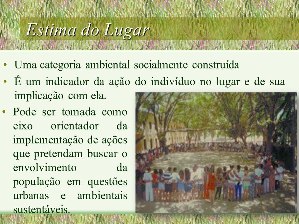 Estima do Lugar Uma categoria ambiental socialmente construída