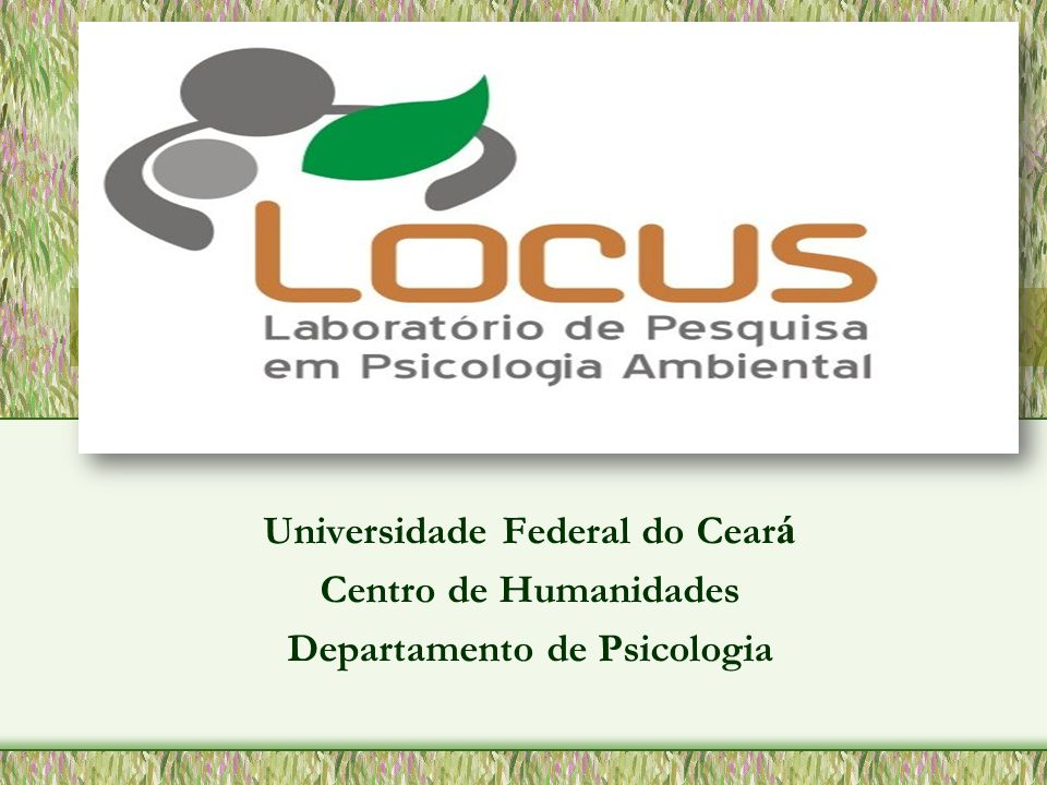 Universidade Federal do Ceará Departamento de Psicologia