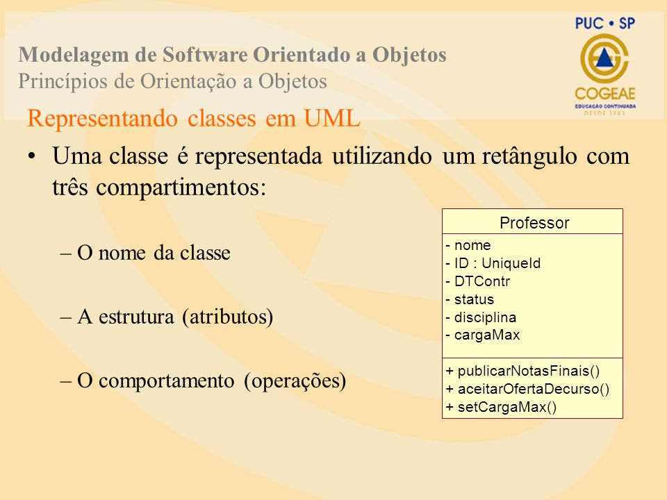 Representando classes em UML