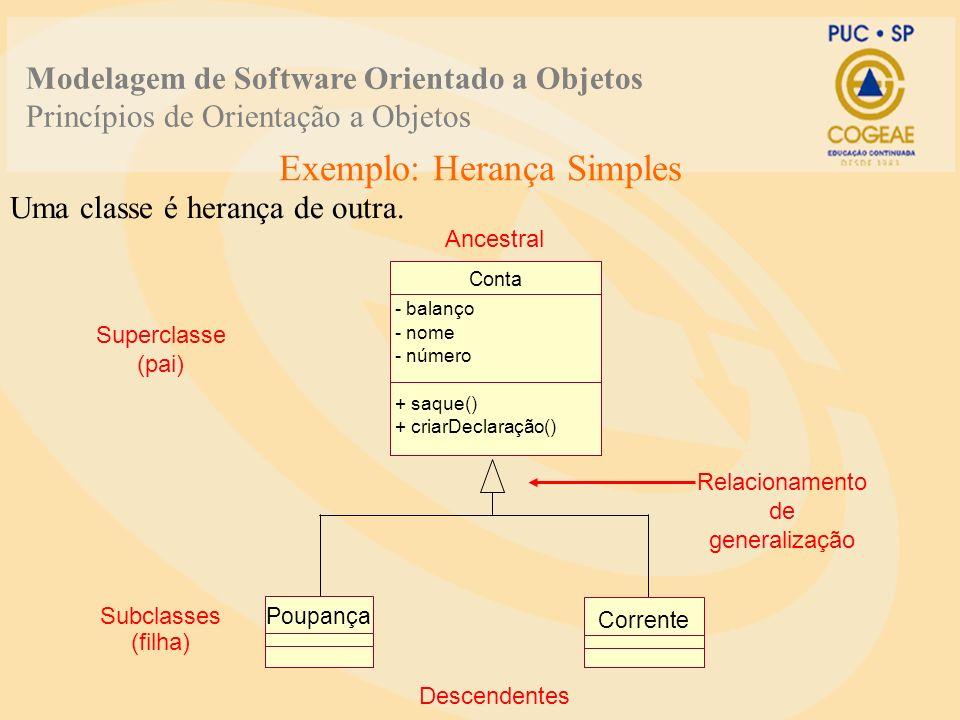 Exemplo: Herança Simples