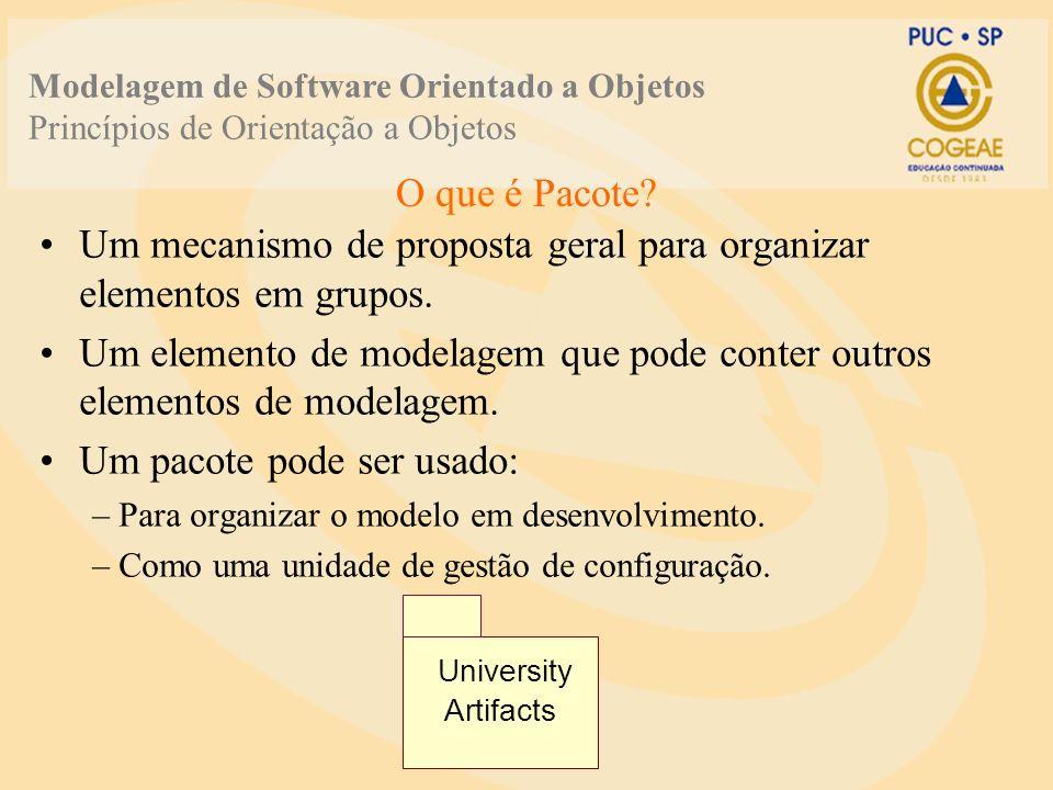 Um mecanismo de proposta geral para organizar elementos em grupos.