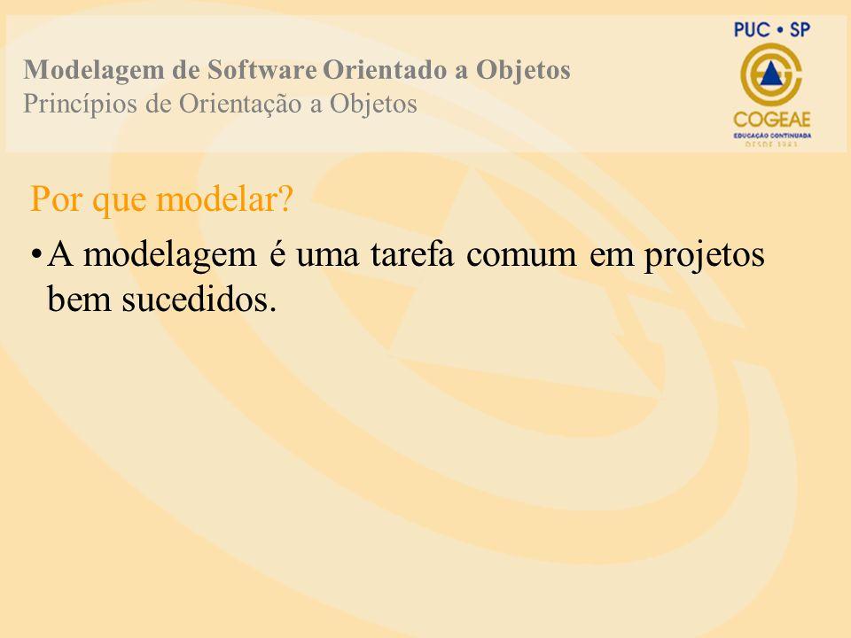 A modelagem é uma tarefa comum em projetos bem sucedidos.
