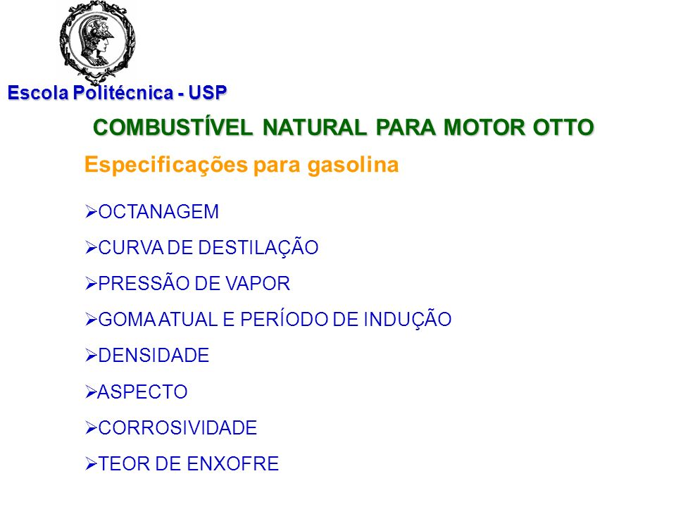 COMBUSTÍVEL NATURAL PARA MOTOR OTTO