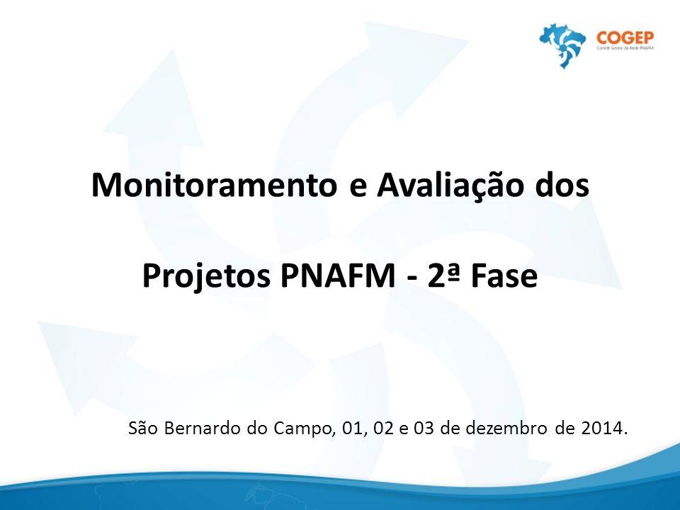 Monitoramento e Avaliação dos Projetos PNAFM - 2ª Fase