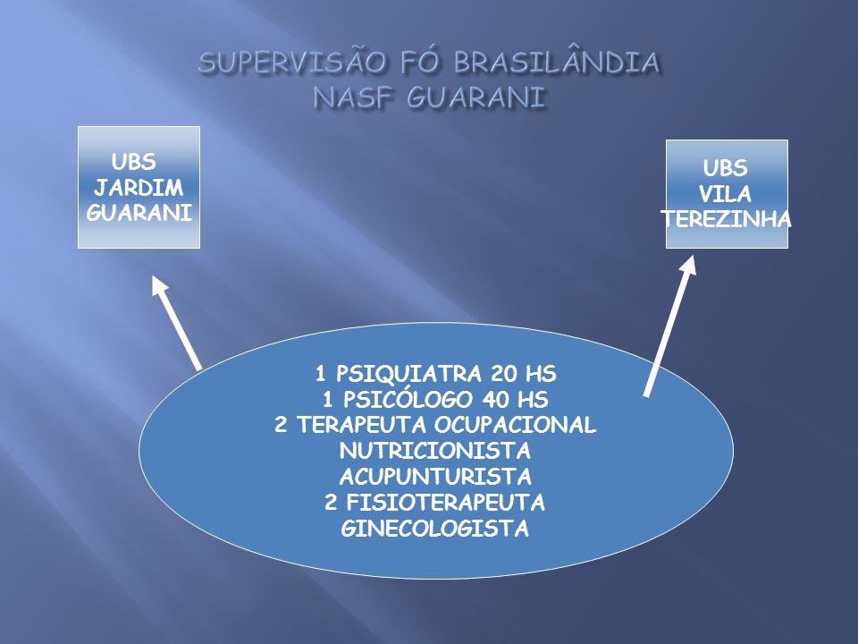 SUPERVISÃO FÓ BRASILÂNDIA NASF GUARANI