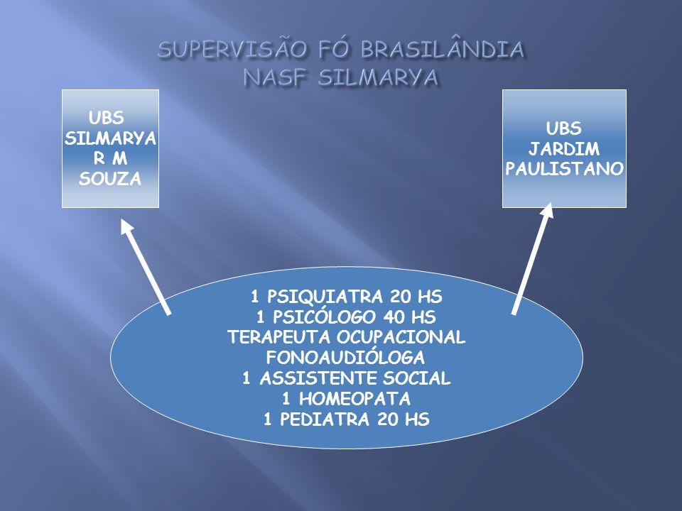SUPERVISÃO FÓ BRASILÂNDIA NASF SILMARYA