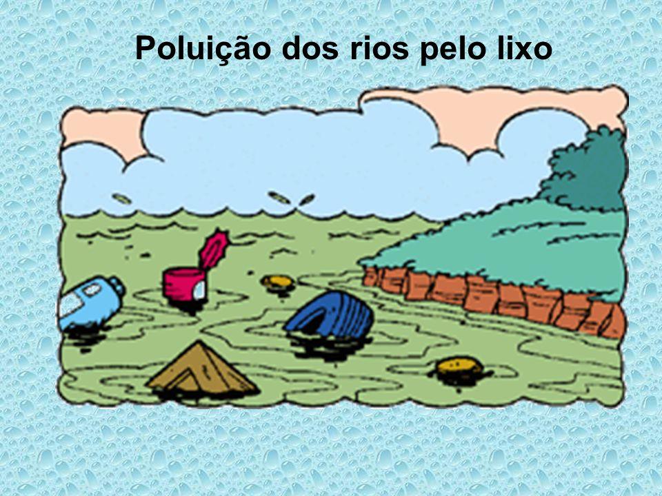 Poluição dos rios pelo lixo