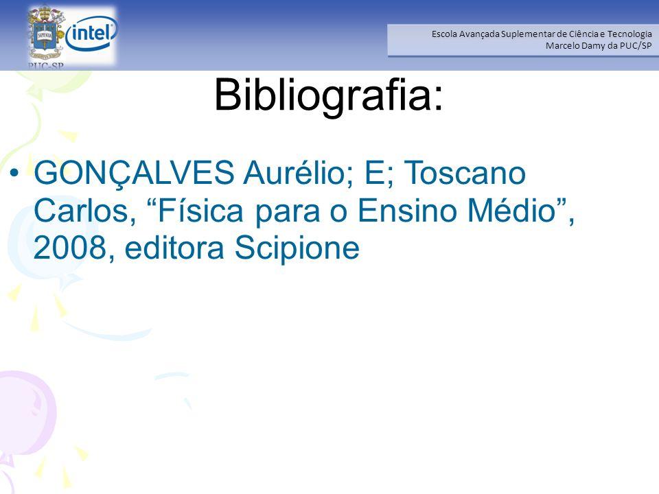 Bibliografia: GONÇALVES Aurélio; E; Toscano Carlos, Física para o Ensino Médio , 2008, editora Scipione.