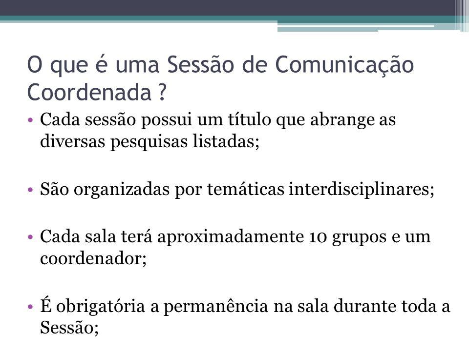 O que é uma Sessão de Comunicação Coordenada