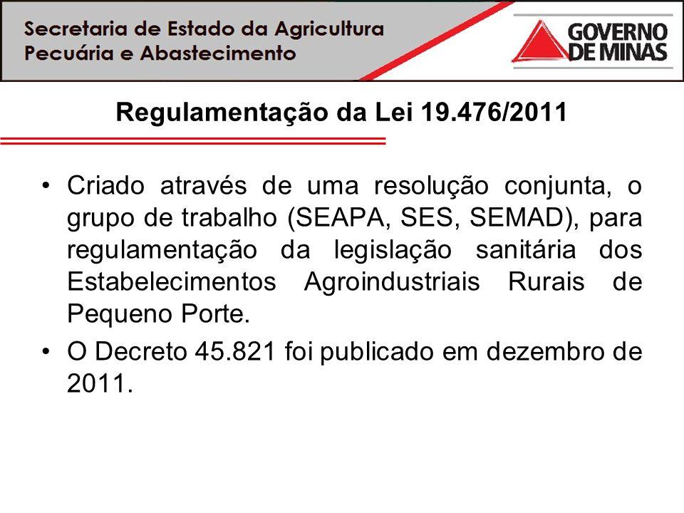 Regulamentação da Lei 19.476/2011