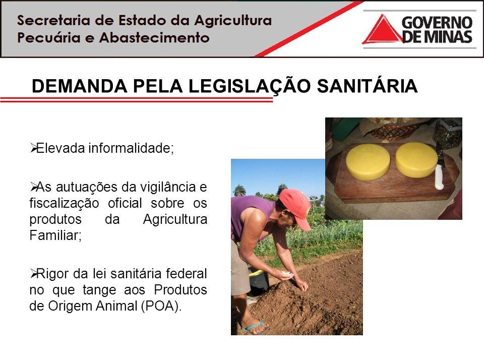 DEMANDA PELA LEGISLAÇÃO SANITÁRIA