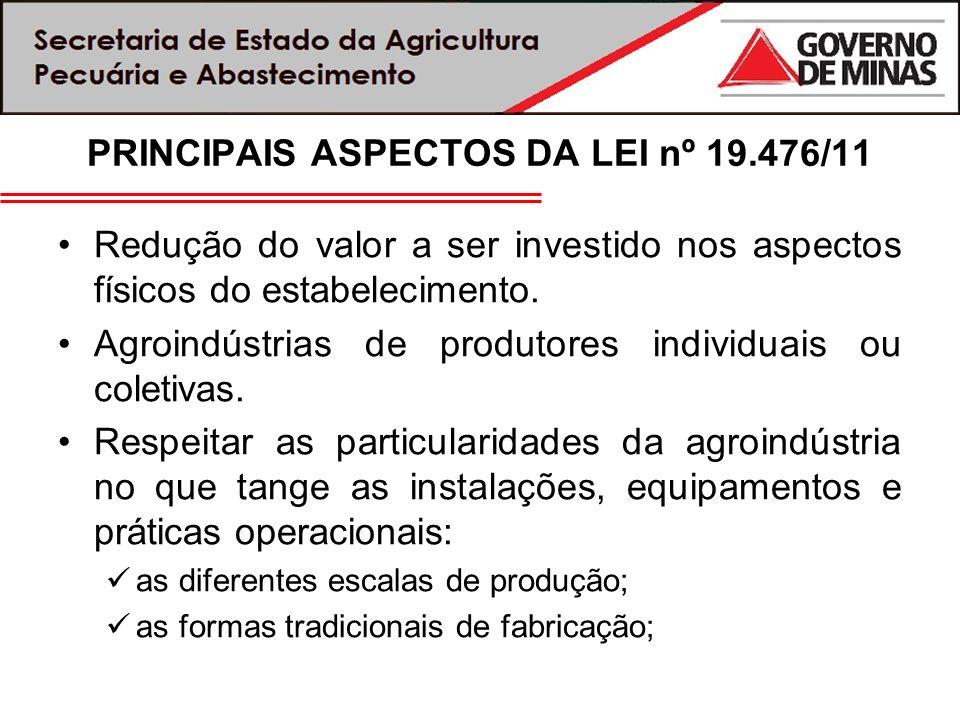 PRINCIPAIS ASPECTOS DA LEI nº 19.476/11