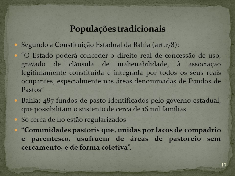 Populações tradicionais