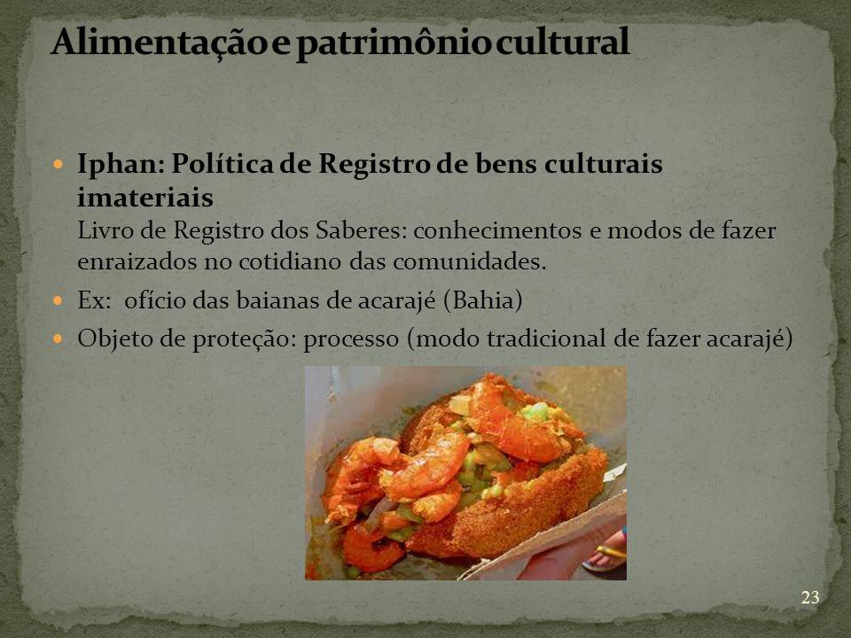 Alimentação e patrimônio cultural