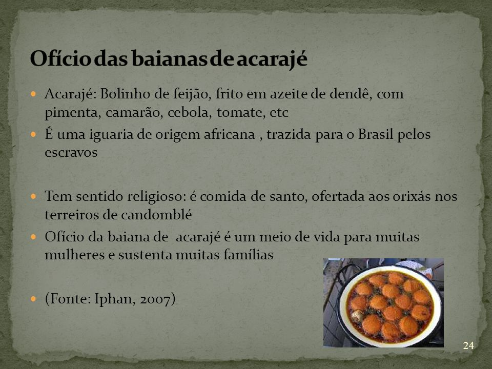 Ofício das baianas de acarajé