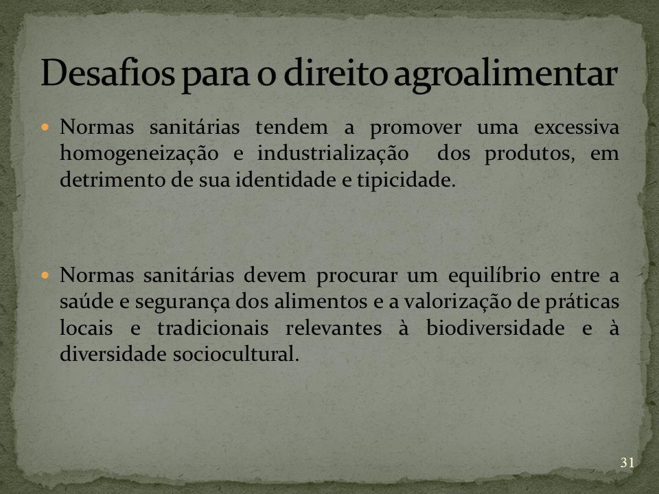 Desafios para o direito agroalimentar