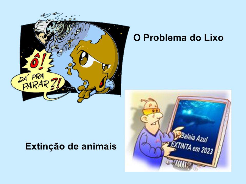 O Problema do Lixo Extinção de animais