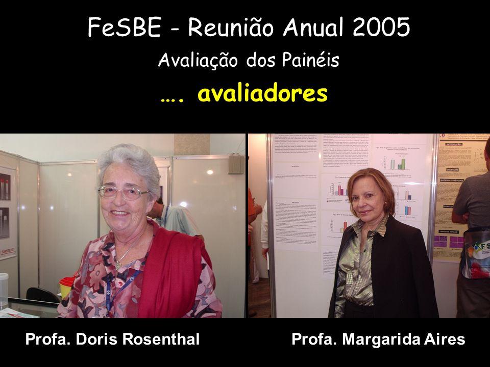 FeSBE - Reunião Anual 2005 …. avaliadores Avaliação dos Painéis