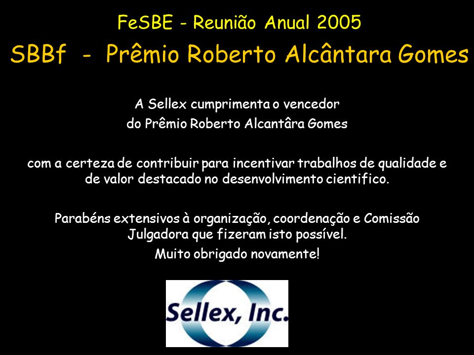 SBBf - Prêmio Roberto Alcântara Gomes