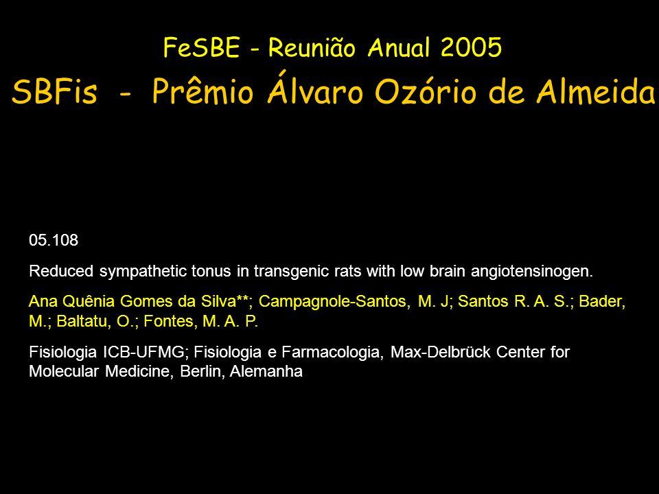 SBFis - Prêmio Álvaro Ozório de Almeida