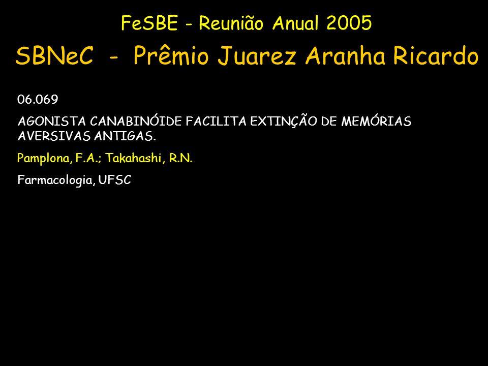 SBNeC - Prêmio Juarez Aranha Ricardo